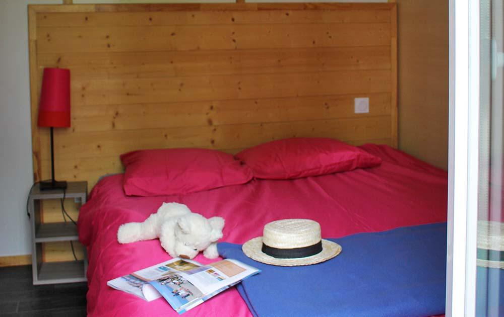 Camping Val de trie chalet grand confort chambre Baie de Somme