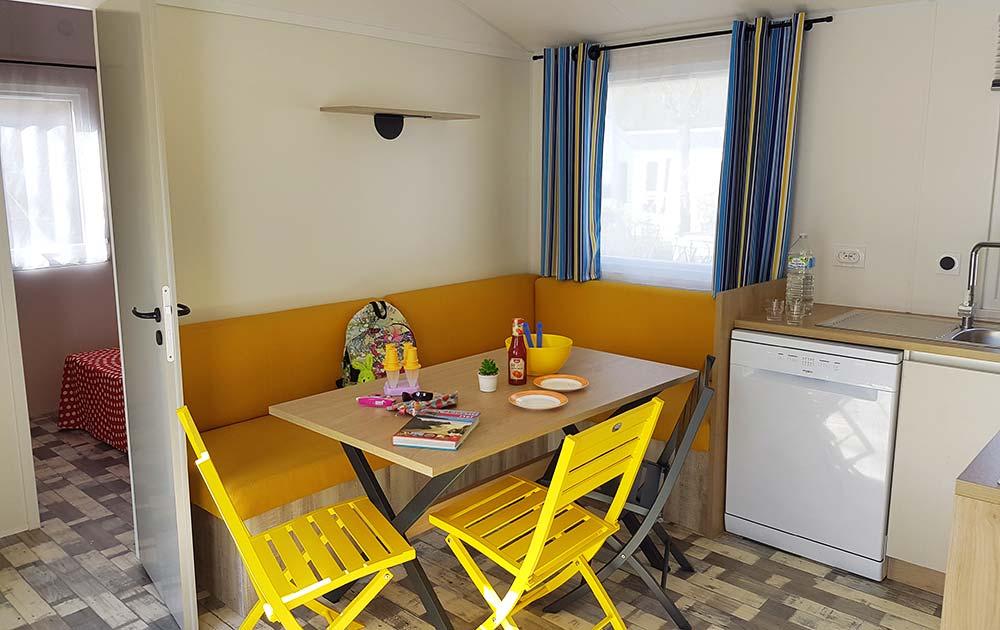 Hébergement cuisine mobil-home Baie de Somme